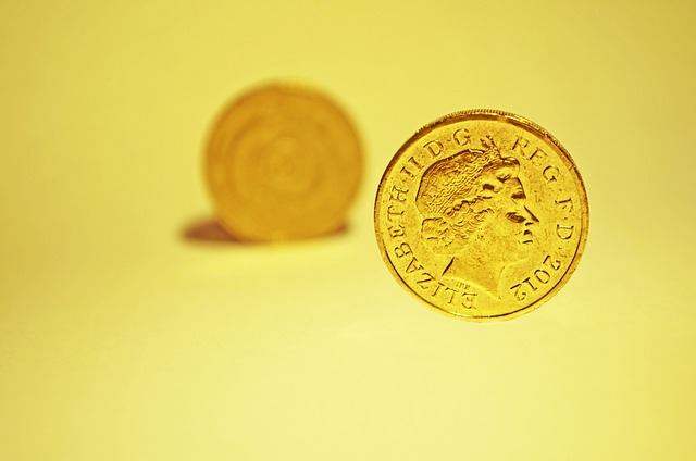 Pennies yellow background