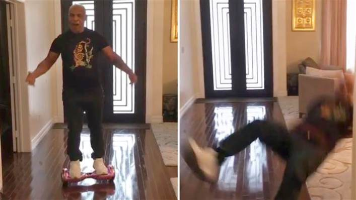 Mike Tyson hoverboard fall
