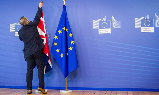 Man removes UK flag photo