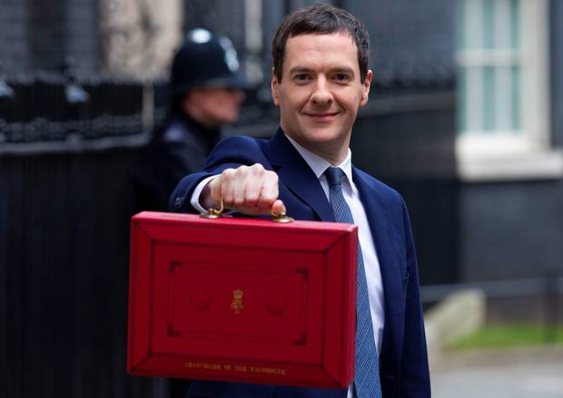 George Osborne red case