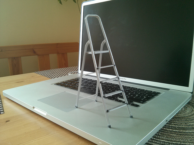 3D printed scale model of a ladder
