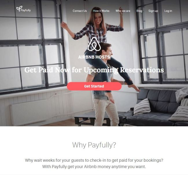 Payfully Website Homepage