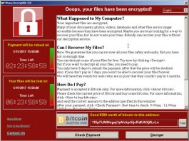 WannaCry screen: Oops, your files have been encrypted!