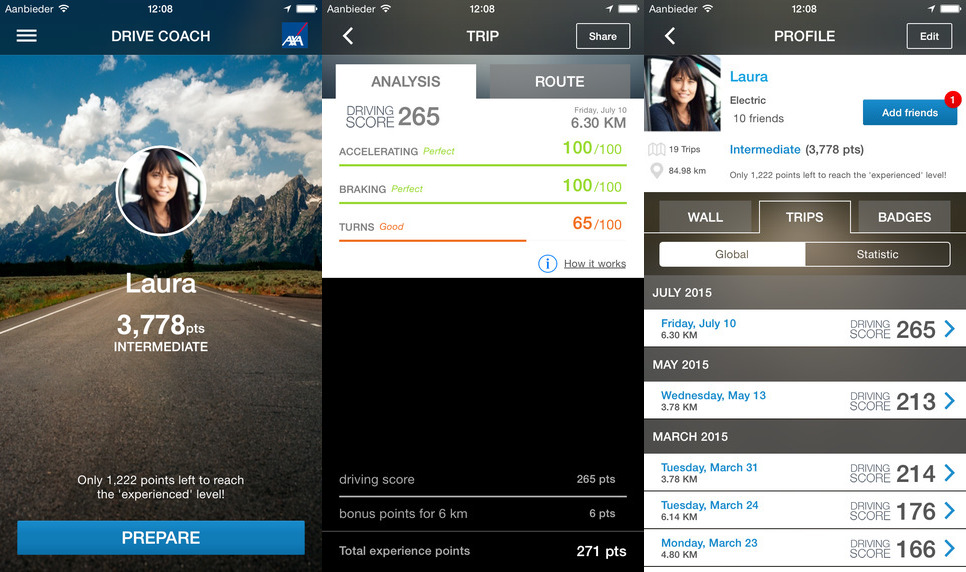 AXA Drive Coach app