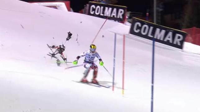 skier drone crash