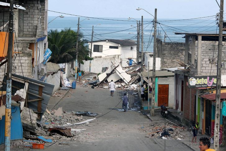 Ecuador earthquake aftermath