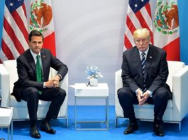Donald Trump meeting with Mexican President Enrique Pena Nieto
