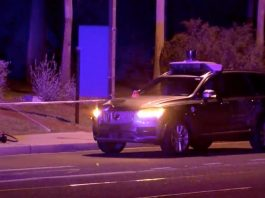 Uber driverless car prototype stopped after accident at Tempe, AZ