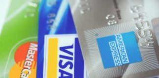 Visa, Mastercard & American Express by Petr Kratochvil via Wikimedia Commons