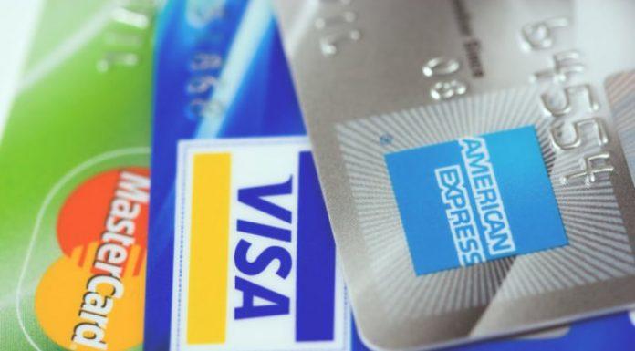 Visa, Mastercard & American Express by Petr Kratochvil via Wikimedia Commons