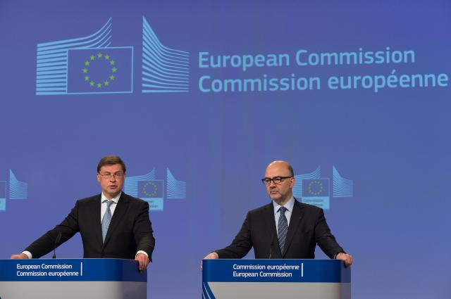 Valdis Dombrovskis and Pierre Moscovici © European Union, 2018