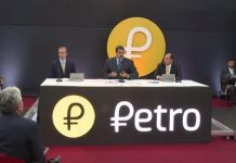 Venezuela President Nicolas Maduro launching the Petro cryptocurrency