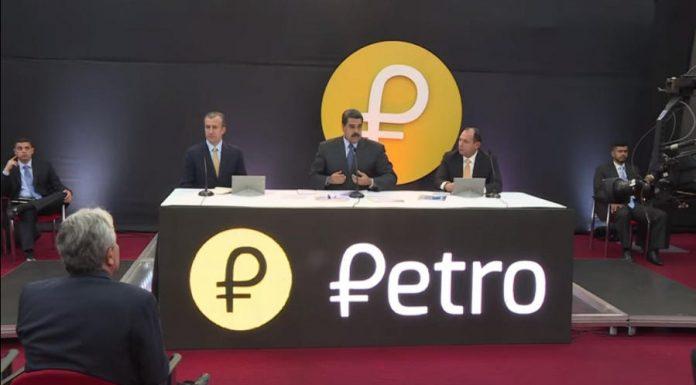 Venezuela President Nicolas Maduro launching the Petro cryptocurrency