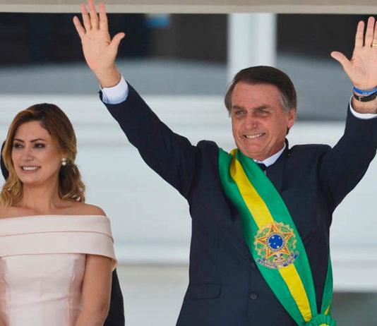 President Jair Bolsonaro during inauguration, Jan 2019