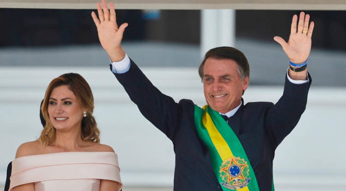 President Jair Bolsonaro during inauguration, Jan 2019