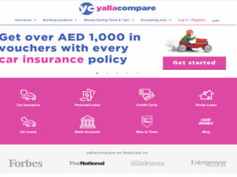Yallacompare website car insurance homepage